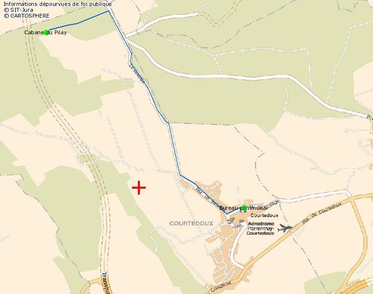 Plan d'accès à la cabane du Pilay