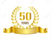 29837774-or-célébration-du-50ème-anniversaire-couronne-de-laurier-ruban